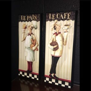 2 French bistro style signs-excellent condition